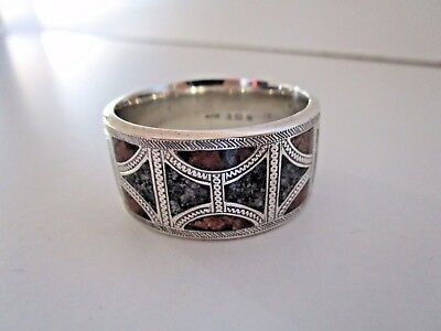 Silver & Scottish Granite Napkin Ring, Hallmarked Birmingham 1913.