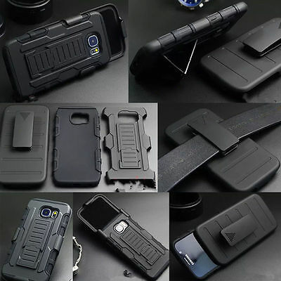Shock Proof Defender Rugged Tough Heavy Duty Armor Hard Case Cover With Belt Clp