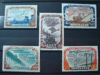 Russia Urss 1951 Serie Completa N. 1584-1588 Nuova * Mlh Val. Cat. € 210,00