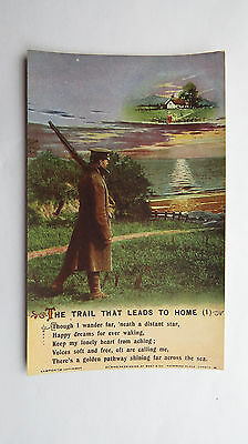 WW1 Bamforth Vintage 1917 Song Postcard Message To Soldier Tommy Western Front