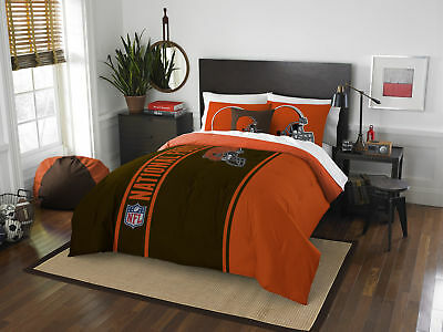 Cleveland Browns COMBO 5 Pc FULL Size Comforter Set (Shams, Pillowcases)