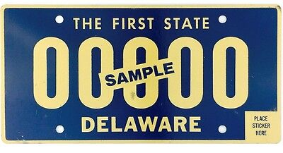 Current Style Delaware SAMPLE License Plate
