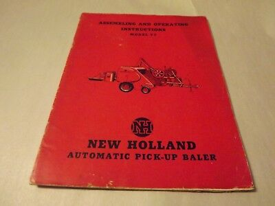 New Holland 77 Automatic Pick-Up Baler ASSEMBLY AND OPERATING  Manual