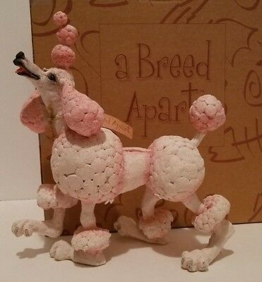 DOG POODLE CANDY FIGURINE - A Breed Apart - Country Artists 05725 NEW NIB