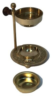 Adjustable brass candle oil resin incense burner travel kit