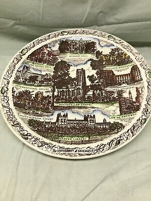 "University of Chicago Red & White Vernon Kilns Exclusive 10"" Collector's Plate"
