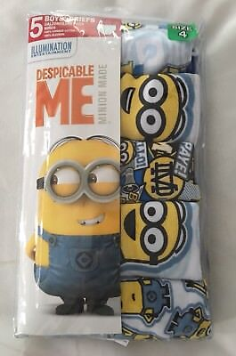 Descpicable Me Minions Toddler Boys Underwear 5 Pack Size 4