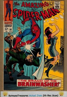 Amazing Spider-Man #59 (9.0) VF/NM 1st Mary Jane Cover 1968 Silver Age Key Issue