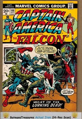 Captain America #166 (9.2) NM- Falcon Appearance 1973 Key Issue