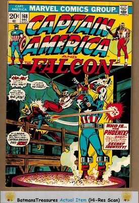 Captain America #168 (8.0-8.5) VF+ 1st Baron Zemo Appearance 1973 Key Issue