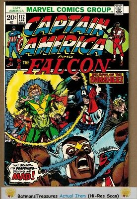 Captain America #172 (9.2-9.4) NM Last 20-Cent Cover 1974 Bronze Age Key Issue