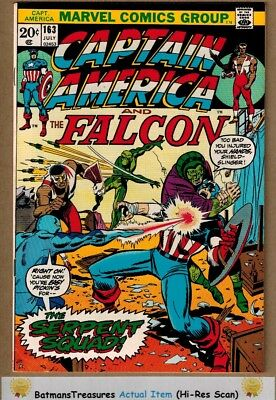 Captain America #163 (9.0-9.2) NM- 1st Serpent Squad Appearance 1973 Key Issue