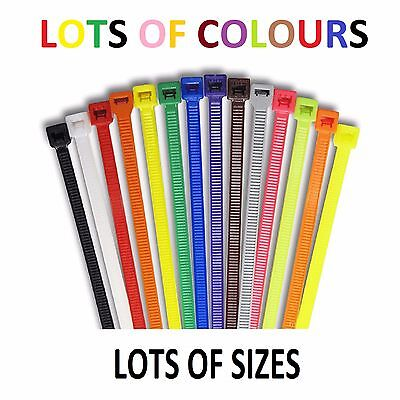 Strong Coloured Colored Cable Ties Zip Tie Tie Wrap Colour - LOTS OF SIZES