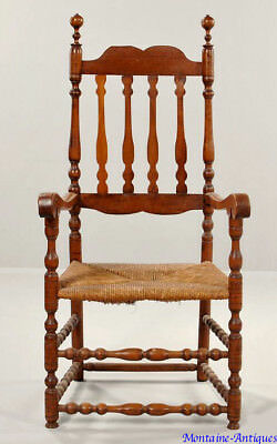 Fine William and Mary Bannisterback Arm Chair c. 1730