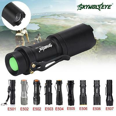 Zoomable 8000  Pocket LED Flashlight 3 Modes Waterproof Torch Mini Penlight BT