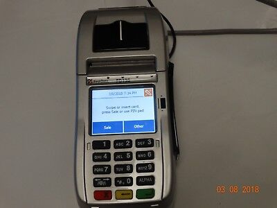 FIRST DATA FD-130 TERMINAL credit card machine EMV Chip card)+NFC(Contactless/Ap