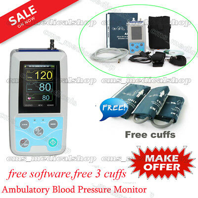 24hours record Ambulatory Blood Pressure Monitor,NIBP Holter,Adult cuff+software
