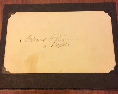 Millard Fillmore Signed Card President