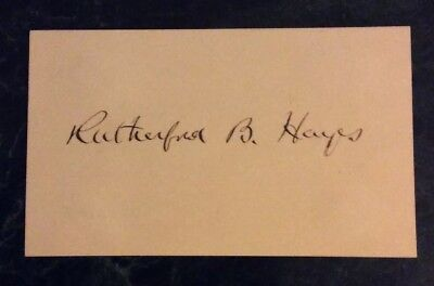 Rutherford Hayes Signed Card President