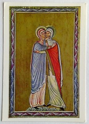The Visitation French or Flemish late 12th century 1976 British Postcard (P269)