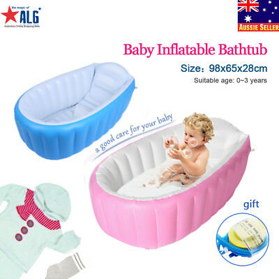 Baby Kid Inflatable Bath Tub Portable Newborn/Toddler Thick Bathtub Mommy Helper