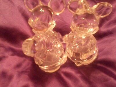 Lenox Lead Crystal Mickey & Minnie Mouse Salt And Pepper Shakers Germany