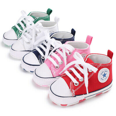 Baby Toddlers Soft Base Pre Walker Shoes Infant Trainer Boys Girls Crib