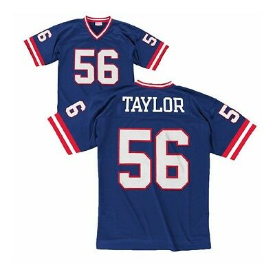 4491e49b Mitchell Ness 1986 Lawrence Taylor #56 New York Giants NFL Royal Replica  Jersey