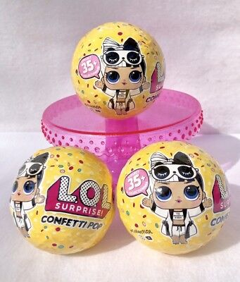 Pre-Order Lot of 3 LOL Surprise Confetti Pop Series 3 WAVE 2 Big Sis Dolls Balls