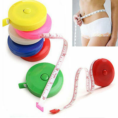 "Retractable Body Measuring Ruler Sewing Cloths Tailor Tape Measure Soft 60"" 1.5M"
