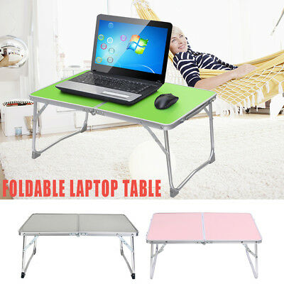 Adjustable Portable Camping Folding Laptop Table Desk Computer Reading Tray AU