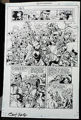 Creature Commandos #8 Page 9 2000 Original Art-By Scot Eaton & Ray Kryssing