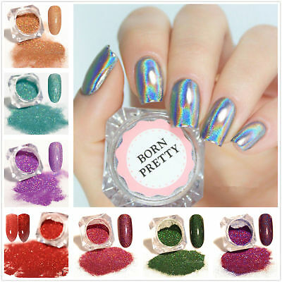 Holographic Nail Art Glitter Powder Laser Manicure Dust Nail Tips Pigment Flakes