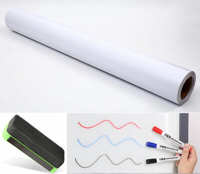 Sticky Sheet White Board Peel Stick Adhesive Message Large Roll & eraser marker