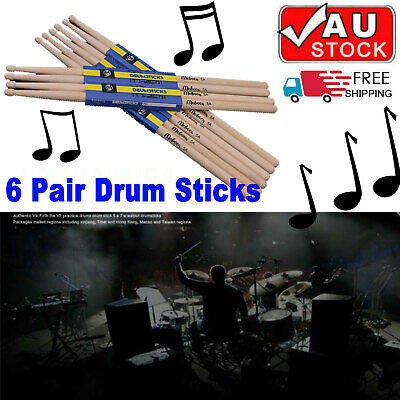 A Pair Maple Wood Drumsticks 5A Drum sticks wooden tips for Music Band
