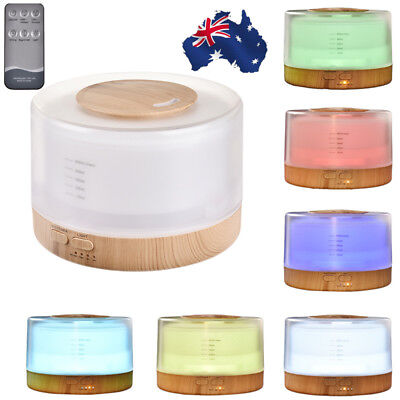 500ml Aroma Essential Oil Diffuser Ultrasonic Air Humidifier with Remote Control
