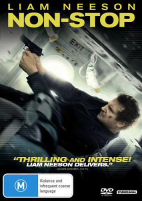 Non-Stop DVD ACTION MYSTERY THRILLER Liam Neeson Julianne Moore BRAND NEW 4