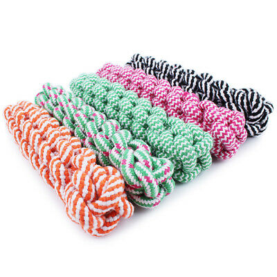 EP_ Pet Dog Tough Strong Chew Knot Teddy Toy Puppy Healthy Teeth Cotton Rope Bli