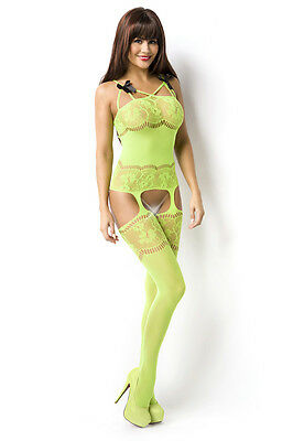 Catsuit Dessous Bodystocking aus Netz Ouvert Straps-Bodystocking