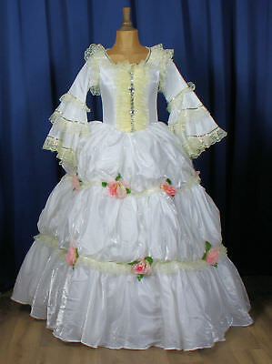 Theatre Victorian Edwardian Style Gown Dress Costume Wedding Stage UK 10-12