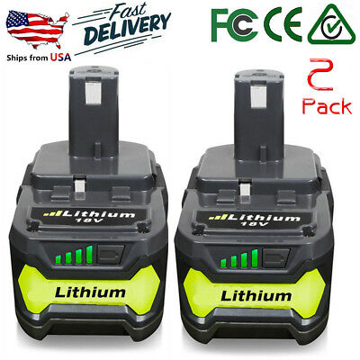 2XFor Ryobi P108 18V 6.0Ah Lithium Ion Battery Pack Replaces P107 P105 P103 P102