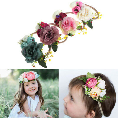 Newborn Flower Headband Baby Girls Handmade Headwear Photography Props Children