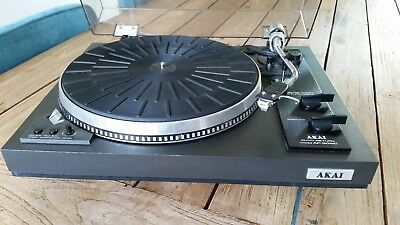 Direct Drive AKAI AP-306C TURNTABLE WITH NEW cartridge