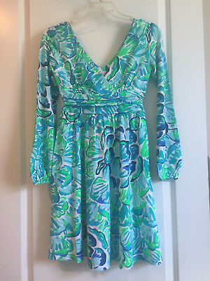 49cdfb52d022cf NWT LILLY PULITZER Fleur Dress Agate Green LAZY RIVER XS $188 ...