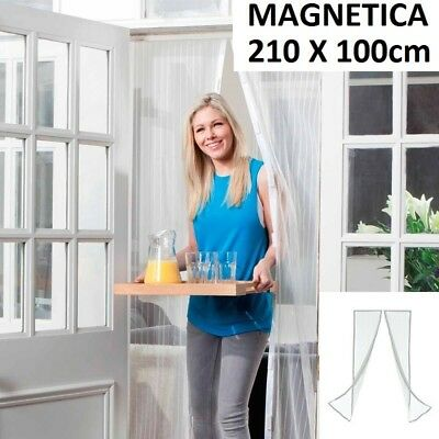 MOSQUITERA MAGNETICA 210cm MAGIC BLANCA MAGNETIC IMANES ANTI CORTINILLA MESH