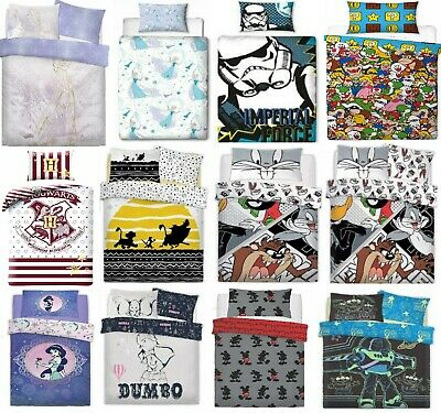 9d1c2f2b621 New Official Kids Marvel Disney DC Star Wars Single Duvet Cover Bedding Set  UK