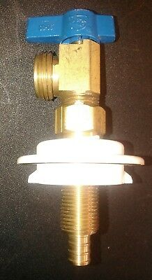 OATEY Washing Machine Valve 3/4 In Copper Blue - Valve Only