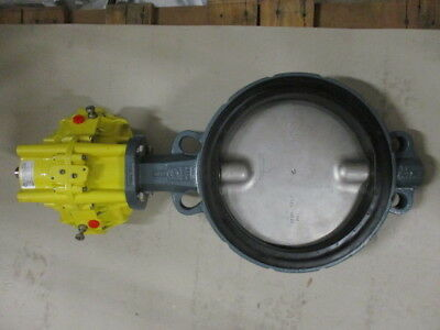 "10"" Cast Iron Butterfly Valve With A Kinetrol Model 10 Rotary Actuator Attached"