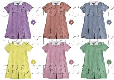 School Summer Gingham Girls Dress, Large Size Available - Adults Dresses