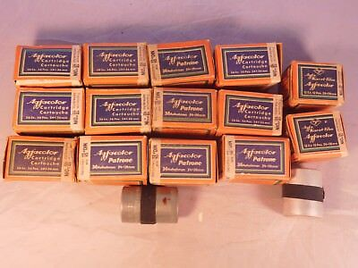 LOT OF 14 VINTAGE AGFA-KARAT FILM AGFACOLOR 24x36MM IN BOX EXPIRED 1948-49